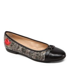 Look what I found on #zulily! Black Olive Katee Leather Ballet Flat #zulilyfinds