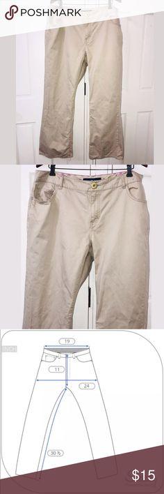 Avenue Jeans Tan 5 Pocket Cotton Denim Avenue Jeans Plus Size 18 Tan 5 Pocket Cotton Denim 100% cotton Avenue Jeans