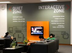 Wayfinding and Typographic Signs - library-informations-directional-signage