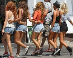 Proof that even celebrities (The Saturdays) have cellulite. Phew!