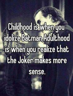 Definitely an adult now. #batman #joker