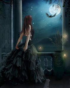 """""""Talk to the Moon, tell her your hopes, your dreams, your fears, for she is always listening, and always available to help those who return her love.""""  - Jasmeine Moonsong     **original artwork by: Derek Brewster http://www.derekbrewster.co.uk/**   http://wiccanmoonsong.blogspot.com/2013/07/daily-message-july-27-2013.html"""