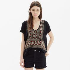 Embroidered Diamondweave Sweater : sweaters | Madewell