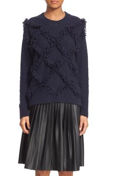 Free shipping and returns on Rebecca Taylor Fringe Pullover Sweater at Nordstrom.com. Thick, fluffy fringe traces a lattice of playful texture across a lush angora-enriched sweater finished with rib-knit trim at the crewneck, cuffs and hem.