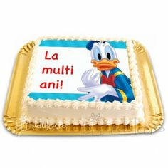 Poza cu Donald Duck este comestibila! Donald Duck, Cake, Food Cakes, Cakes, Tart, Cookies, Torte, Cookie, Pies