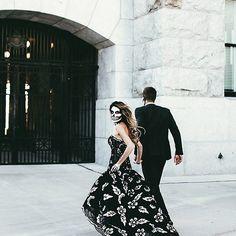 Happy Halloween! We're enchanted by @hellofashionblog in this @oscarpr gown #happyhalloween #skeleton | #liketkit @liketoknow.it www.liketk.it/01GT by neimanmarcus