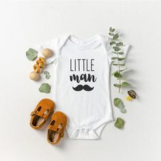 Excited to share this item from my #etsy shop: Little man organic cotton baby vest, baby bodysuit gift for new parents