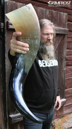 One of our 8 pint drinking horns. GrimFrost.com