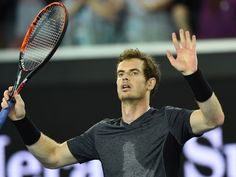 He's through: Britain's Andy Murray celebrates after victory in his men's singles match against Portugal's Joao Sousa