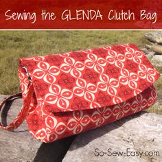 A review and video tutorial on how to sew the Glenda Convertible Clutch Bag from Swoon Patterns. Step by step video makes sewing the Glenda bag easy.