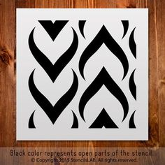Geometric Stencil For DIY Painting - Small Stencil Stencil Printing, Gelli Printing, Stencil Templates, Stencil Designs, Screen Printing, Large Wall Stencil, Stencil Painting On Walls, Stencil Art, Diy Painting