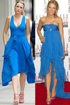 【ELLEgirl】WATERFALL BLUE DRESS TWINS|ブレイク・ライブリーVSセリーナ・ヴァンダーウッドセンのファッション対決|エル・ガール・オンライン