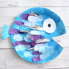 Vidám halacska papír tányérból - kreatív nyári ötlet gyerekeknek / Mindy -  kreatív ötletek és dekorációk minden napra