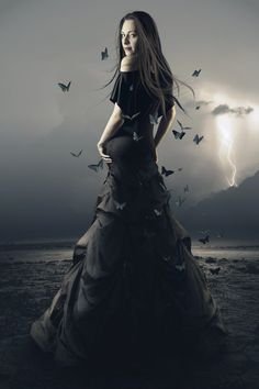 Evening Butterflies--Gothic/Midnight/Dark things #b/w...Check out my boards.