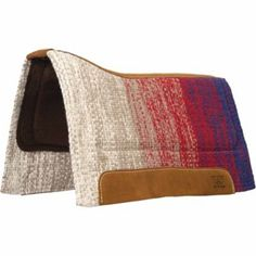 Find Weaver Leather Contoured Barrel EVA Sport Foam Saddle Pad with Felt Bottom, 32 in. x 34 in., Blue/Red in the Saddle Pad | Brand : Weaver Le