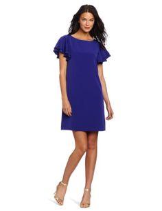 Jessica Howard Women's Solid Flutter Dress « Clothing Impulse