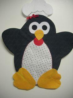 Ateliê Dia a Dia Corridinho - Descanso de panela de Pinguim