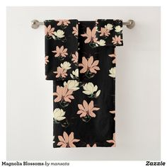 Shop Magnolia Blossoms Bath Towel Set created by mansata. Bath Towel Sets, Bath Towels, Succulents Diy, Floral Tie, Blossoms, Magnolia, Print Design, Art Pieces, Style