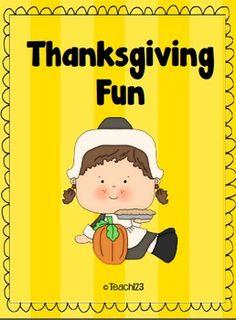 Thanksgiving Fun with Phonics FREE