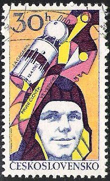 Yuri Gagarin Stamp Czechoslovakia
