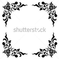 Vintage border frame engraving with retro ornament pattern,vector design