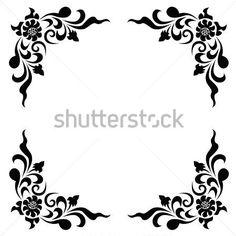Vintage border frame engraving with retro ornament pattern,vector design