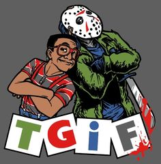 Harebrained is a small group of Chicagoans dedicated to making anything and everything awesome. They started with Period Panties and will end with the World. Game Over Man, Jason X, Happy Friday The 13th, Sword In The Stone, Horror Icons, Jason Voorhees, Halloween Art, Marvel Dc Comics, Cute Cartoon