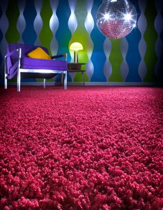 1970's  shag carpet..mine was blue and green mixed..wow, what some memories