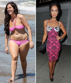 Vicky Pattison shows off her post-Geordie Shore diet before-and-after weight loss pictures as she drops from a size 16 to a size 8