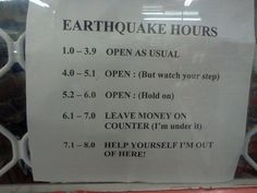 christchurch quake humour - richter scale guidelines for customers