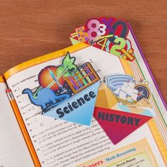 School Subject Bookmarks
