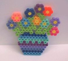 perler bead poted flowers by snowy-wolf on deviantart