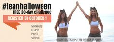 FREE October Challenge, register by October 1 at gosupersisters.com/free-october-challenge  Free workouts, recipes, support, and weekly fitness prize giveaways! Sign up now and do this with a friend. :)