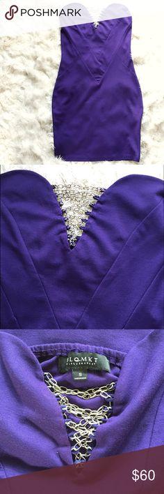 Nasty Gal All Chained Up Purple Mini Dress purple Beautiful sexy mini dress. Purple. Nasty Gal BLQ.MKT blaque market Dresses Mini
