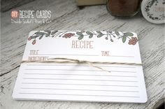 Recipe Cards & Double-Sided Print and Cut Tutorial