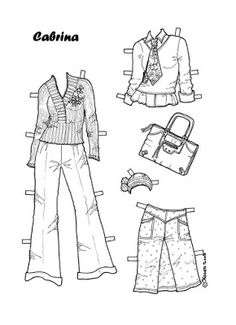 Karen`s Paper Dolls: Cabrina 1-8 Paper Doll to Colour. Cabrina 1-8…