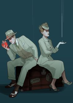"""Rosalind and Robert Lutece from Bioshock Infinite. """"Rosalind: Odd isn't it? the way we finish each others sentences... Robert: Actually...I'd be MORE surprised if we didn't finish each others sentences."""""""