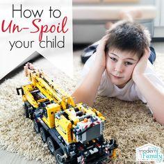 How to un-spoil a child via @BeckyMans