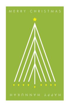 """We're loving all of the cross-holiday ideas here on pinterest, like this one --> """"Menorah Tree"""" Christmas/Hannukah Interchangeable Card"""