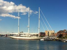 Athena-- largest sailboat/schooner in the world  docked in Victoia BC harbor. You can buy for only 92 million!!!