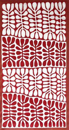 Mitjili Napurrula.  Positive/negative shapes.