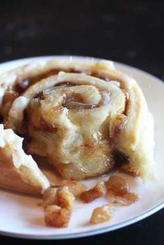 These cinnamon rolls have an apple pie filling and sticky cream cheese frosting. Once you get these ... - Courtesy of The Hopeless Housewife