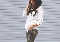 polka dots and camo. i've never thought of this before, but it's like now that i know it exists.....I HAVE TO DO IT.