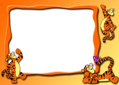 Las Recortables de Veva e Isabel: Winnie -The -Pooh and Friends. Cubby Tags, Tigger Disney, Disney Frames, Autograph Book Disney, Photo Frame Design, Scrapbook Frames, Winnie The Pooh Friends, Diy Craft Projects, Crafts