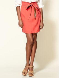 Tie Waist Skirt - Piperlime  Love this!