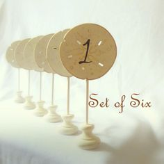Beach Wedding Table Numbers Signs, Rustic Table Numbers, Wooden  Signs, Shabby Chic Decor/ White Wedding  Set of 6