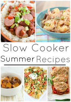 Slow Cooker Summer Recipes! Easy Recipes for a Summer Schedule with kids!