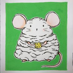 Meet Jabba the Mouse. My entry to #doodletuesdaychallenge set by @andy_stonehouse_illustrator prompt is 'Mouse' Alcohol Markers, Daily Drawing, Prompt, Moleskine, Illustrator, Doodles, Challenges, Snoopy, Meet