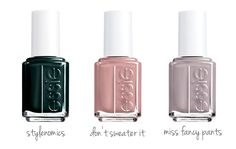 Fall nail colors from Essie.