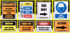Printable Road & Construction Signs